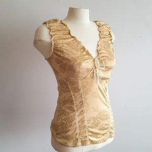 Vintage Gold Sleeveless Camisole Tank Top